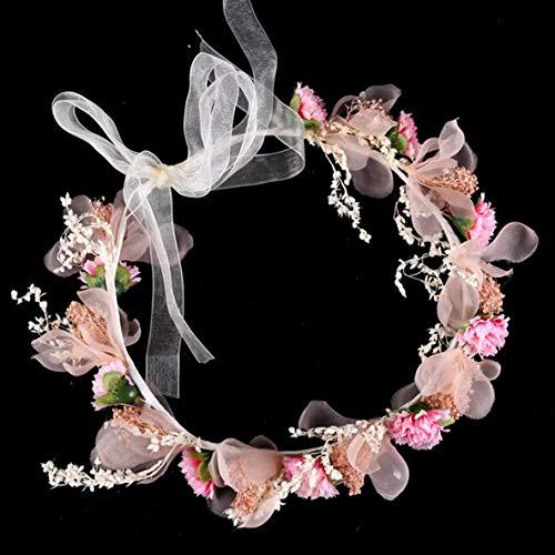 Noradtjcca Corona da Sposa Tiara Fascia da Sposa Sposa Fascia da Fiore Fascia da Sposa Corona di Fiori Artificiali e diadema Spos