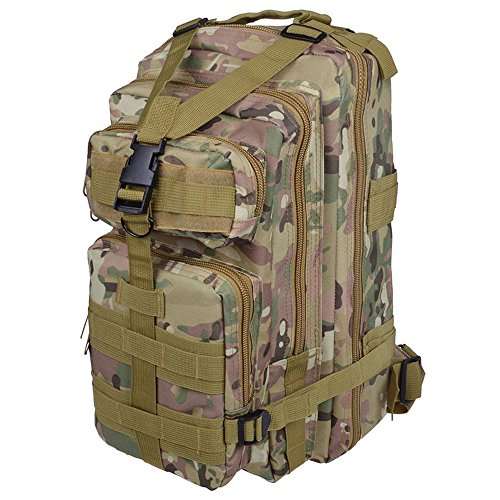 Sijueam US Assault Pack Small Rucksack ca. 25L(Minimum 8L) CP Farben