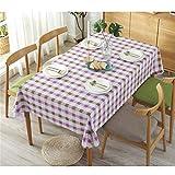 DOTBUY Tischdecke Abwaschbar, Europäischer Stil Rechteckige Pflegeleicht Eckig Tischtuch Pflegeleicht Schmutzabweisend Lotuseffekt Effekt