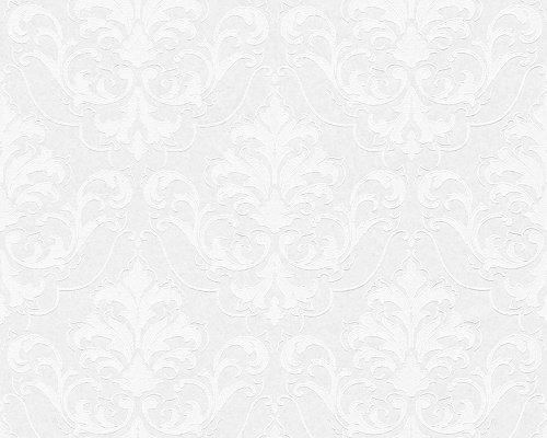 12 x (Rollen) 961815 Vlies (überstreichbar) - TAPETE Weiß/Überstreichbar 9618-15 AS-Creation
