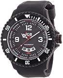 ICE-Watch - Montre homme - Quartz Analogique - Ice-Surf - Black white - Extra-big - Cadran Noir - Bracelet Silicone Noir - DI.BW.XB.R.11
