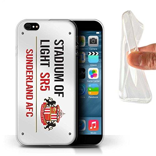 Officiel Sunderland AFC Coque / Etui Gel TPU pour Apple iPhone 6S+/Plus / Pack 6pcs Design / SAFC Stadium of Light Signe Collection Blanc/Rouge