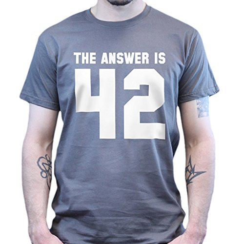 The Answer To Life is 42 T-shirt Dunkelgrau