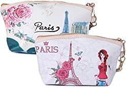 UberLyfe Magic of Paris Multipurpose Pouch or Purse for Women - Set of 2 (PU-001037-38-COMBO)
