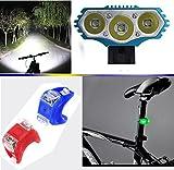 6000LM CREE 3X XM-L Fahrradlampe Fahrradbeleuchtung Frontlichter mit 4x 18650Akku