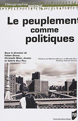 Le peuplement comme politiques