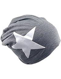 Jersey Slouch Beanie Long Mütze mit Stern Style Unisex Unifarbe Herren Damen Trend