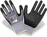 LeiKaFlex 10 x Feinstrick-Handschuh, Rutschfest mit Noppen Größe 10