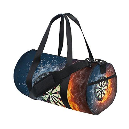COOSUN Darts Board Duffle Bag Handlich Sports Gym Bags Schultertasche für Männer und Frauen