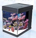 YANFEI Mini USB Ecologica Desktop potere interno Filtro LED di vetro di illuminazione Desktop Fish Tank
