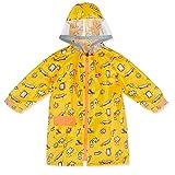 Kinderregenmantel Zipper Baby Regenkleidung Kindergarten Kinderwasserdichter Poncho (Farbe : Gelb, größe : M)