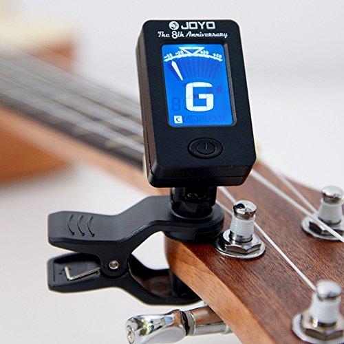 EisEyen Digital LCD Gitarre Stimmgerät für Gitarre, Violine, Ukulele, Viola, Cello, Kontrabass, Bratsche, Geige, Chromatic