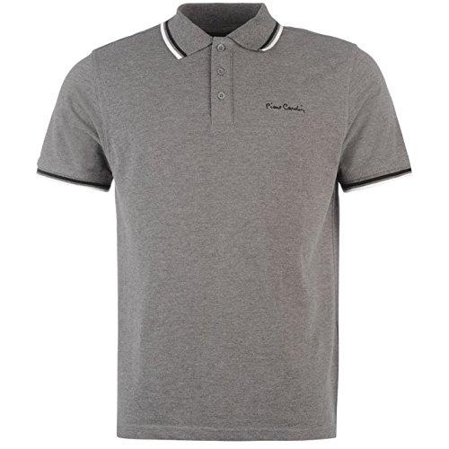 pierre-cardin-polo-pour-homme-avec-pointe-anthracite-top-t-shirt-tee-gris-fonce-xxxxl