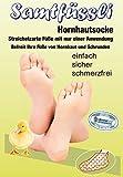 Samtfuessli–Horn pelle distanza con corno calzini, streichelzarte piedi con una sola applicazione