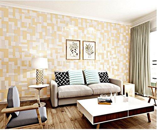 JSLCR Moderne und einfache Mosaik Hintergrundbilder 3D wallpaper,Hellgelb