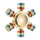 #10: TanMan Tri-Spinner Fidget Toy- Brass Golden