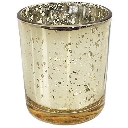 Just Artifacts Quecksilber Glas Votiv-Kerzenhalter Einheitsgröße Gold