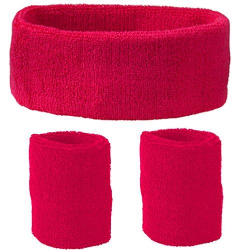 GO HEAVY Schweißband Set 3 tlg. Für Kopf und Arm - Pink