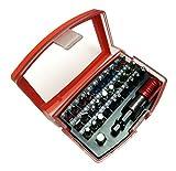 Falon Tech Set Bit, embouts 32pièces (Plat, PZ, PH, Torx et tous les embouts inclus) avec rallonge magnétique–ft66305