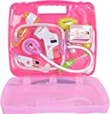 #7: Toyshine Sunshine Gifting Doctor Set Pretend Play Toy with Light Sound Effects for Kids (KT-OB30-24IH, Pink)