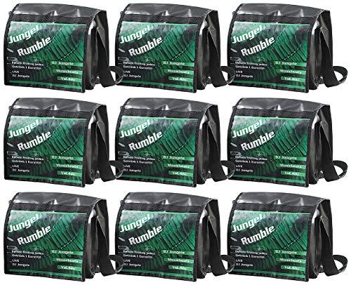 Xcase Messengertasche: 9er-Set Schultertasche mit A4-Werbefenster, Querformat (Kurier-Tasche) - Werbe-herren-bekleidung