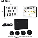 """MagnusDeal ® """"Cinema Movie-Marquee- Style Cinematic LED Light Box Sign All In One Kit Including- Light Up Your Life For Home And Wedding Decor (USB Or Battery Powered)"""""""