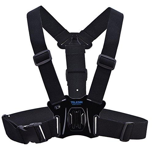Acouto TELESIN Verstellbarer Brustgurthalter Body Gürtel Harness für Go Pro Hero 5/4/3 +/3 Sport Kamera Body Mount Belt Chest Strap -