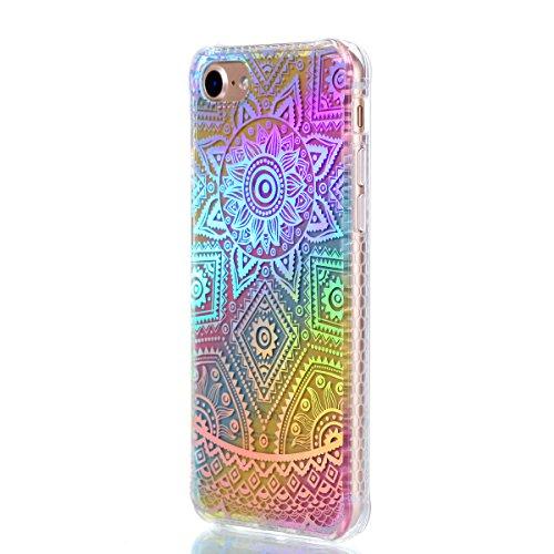 Apple iPhone 7 4.7 Hülle, Voguecase Schutzhülle / Case / Cover / Hülle / Plating TPU Gel Skin (Kleine Gänseblümchen 10) + Gratis Universal Eingabestift Datura