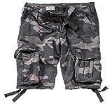 Surplus Hommes Airborne Vintage Shorts Délavées Black Camo taille XXL