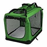 AVC Portable Soft Fabric Pet Carrier Folding Dog Cat Puppy Travel Transport Bag (Large, Green)