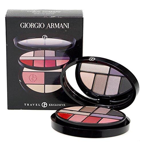 Kollektion Lip Palette (Giorgio Armani Farbe Ecstasy Zwei Schicht Weihnachten Make Up Palette-6Lidschatten, 4Lippe Farben-2Concealer-Rouge-Puder-Spiegel)
