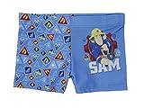 Feuerwehrmann Sam Badehose (122/128 - ca. 7-8 Jahre, blau)