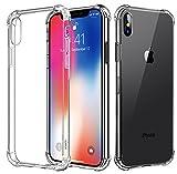 Bovon Cover iPhone X, Custodia Ultra Sottile Trasparente Silicone Cistodia Morbido Anti Urto di TPU [Clear Slim] Case Protettiva con Bumper per Apple iPhone X Lite 2017