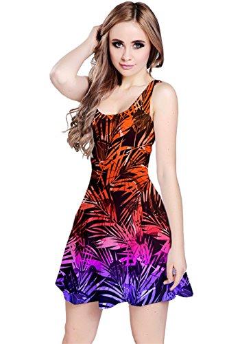 CowCow Damen Kleid Violett Violett - Orange Purple