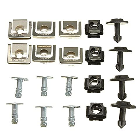 Yongse Set Undertray Guard Engine Cover Fixing Fitting Clips Screws
