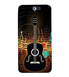 Music is Gitar Songs 3D Hard Polycarbonate Designer Back Case Cover for HTC One A9