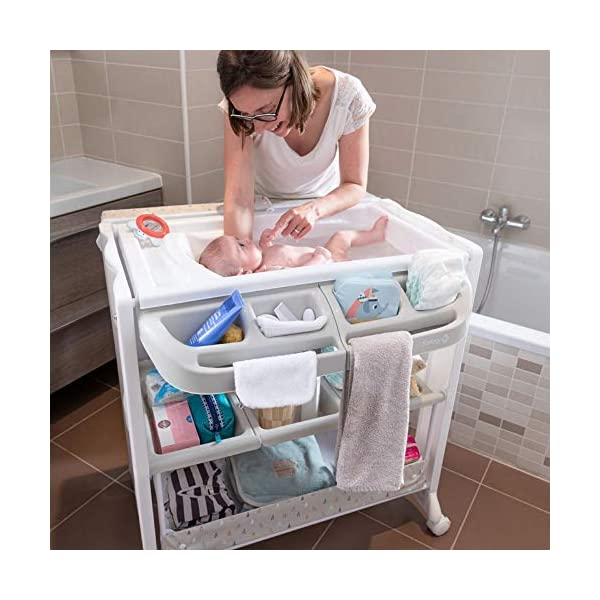 Safety 1st Dolphy Baby Changing Unit, Warm Grey Safety 1st 2 in 1: bathtub and changing table. no need to bend to bath baby Easy to lift up with one hand changing table Integrated bathtub with drainage tube included 5