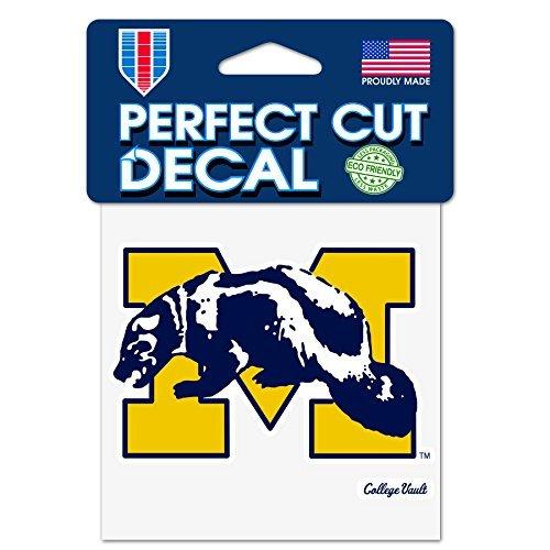 NCAA Universität von Michigan Wolverines Perfekten Schnitt Aufkleber 10,2x 10,2cm Maskottchen (Wolverine-aufkleber)