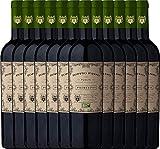 12er Paket - Doppio Passo Bio Primitivo Puglia IGT 2018 - CVCB mit VINELLO.weinausgießer | halbtrockener Rotwein | italienischer Bio-Wein aus Apulien | 12 x 0,75 Liter
