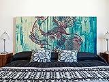 Cabecero Cama PVC Impresión Digital | Elefante 150 x 60 cm | Cabecero Original y Económico