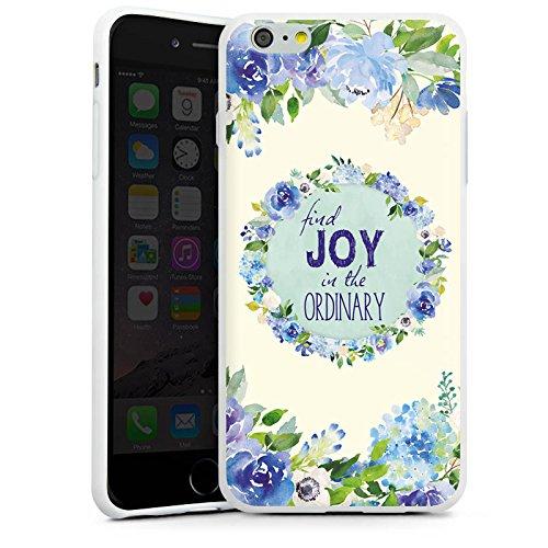 Apple iPhone X Silikon Hülle Case Schutzhülle Blumen Spruch Muster Silikon Case weiß