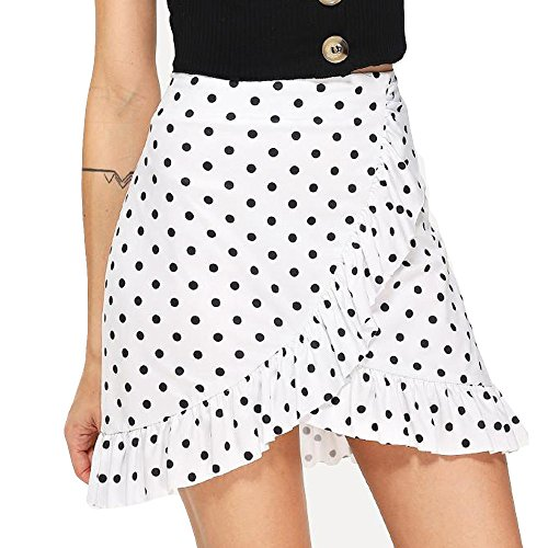Damen rock sommer , BURFLY Taillen-unregelmäßiges einheitliches  Partei-Kleiderfaltenrock der Frauen-zufälligen 0c3e47584d
