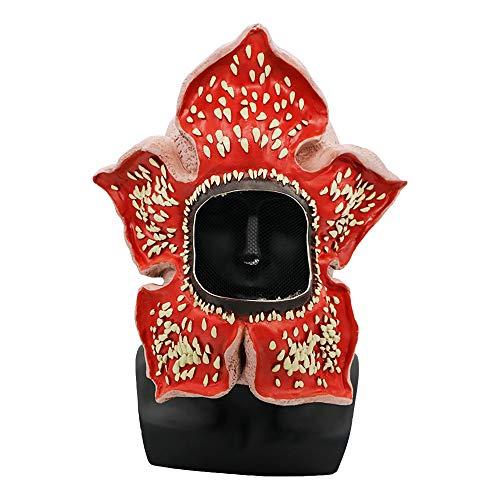 JUZIPI Fremde Dinge Demogorgon Horror Kostüm Maske, Strange Things Halloween Cosplay Maskerade Kostüm Party Kannibale Blume Gesicht Kopf Maske Latex für Kinder Männer Frauen (Einzigartige Scary Kostüm)