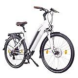 "NCM Milano Bicicletta elettrica da Trekking, 250W, Batteria 48V 13Ah 624Wh (Bianco 28"")"