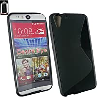 Emartbuy® HTC Desire Eye Ultra Slim Gel Hülle Schutzhülle Case Cover Schwarz