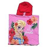 PONCHO Mare Frozen Elsa Disney Asciugamano Accappatoio Poliestere MICROCOTONE CM. 50x100 - SE1737/1