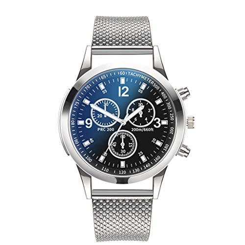 Quarzuhr Herren,uhrenarmband -Luxusuhren Quarzuhr Edelstahl Zifferblatt Casual Bracele Uhr (A)