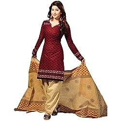 Vaamsi Women's Dress Material (Cocp6_Maroon_Free Size)