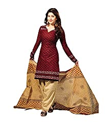Vaamsi Women's  Salwar Suit Dress Material(Cocp6_Maroon_Free Size)