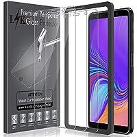 LK [3 Pack Pellicola Protettiva per Samsung Galaxy A7 2018, [Installazione Semplice Cornice allineamento] Protezione Schermo Vetro Temperato Screen Protector [Garanzia di Sostituzione a Vita]